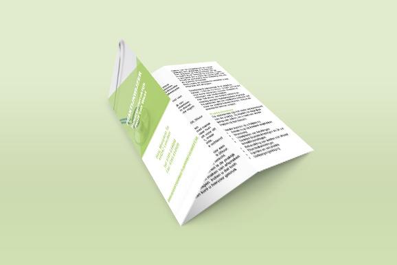 Ontworpen folder door een vormgever uit Leerdam