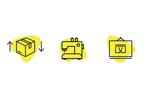 Ontworpen iconen door een vormgever uit Leerdam